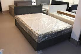 Ascari Boxspringbett Bett 140x200 Dunkelgrau Grau Schlafzimmer