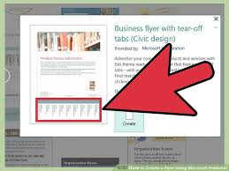 How To Create Flyers How To Create A Flyer Using Microsoft Publisher 11 Steps