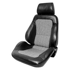 procar rally driver side sport seat with houndstooth insert