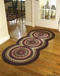 park designs rug folk art braided country rug runner by park designs large circles park designs
