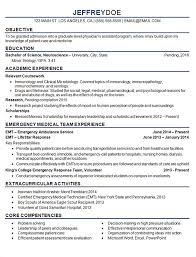 Emt Basic Resume Examples Best Of Medical Student Resume Example Sample