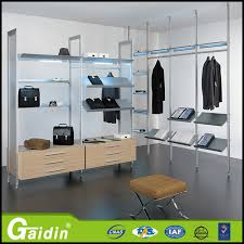 china supplier closet organizers aluminum pole system bedroom wardrobe