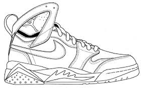 Air Jordan Coloring Pages 9viq Nike Air Jordan Coloring Page Shoes