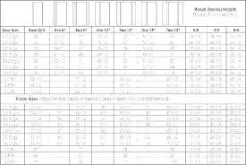 Door Sizing Chart Mdegraf Co