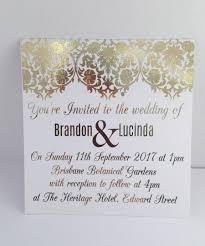 Gold Foil Wedding Invitation Set With Rsvp Card Sample