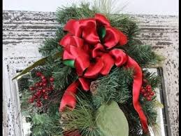 Perfect Ribbon Bow to Make for Christmas Wreath or Package - YouTube