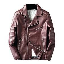 red faux leather jacket asymmetrical zip faux leather jacket wine red l zara red faux leather