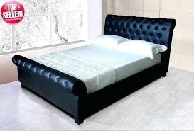 black upholstered sleigh bed. Leather Sleigh Beds South Africa King Size Bed Black . Upholstered