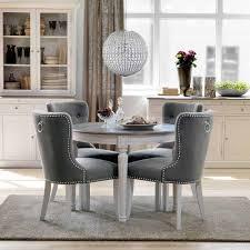 Essgruppe Mit Rundem Tisch Weiß Grau 5 Teilig