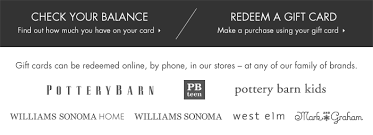 gift cards and egift cards may be used at s in the united states by phone or with west elm pottery barn