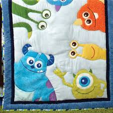 monster inc bedding set baby monsters inc 4 piece crib bedding set bedding sets monster inc bedding set