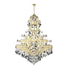 maria theresa collection 48 light gold finish crystal chandelier 52 d x 86 h