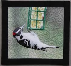 Landscape art quilts with birds by Barbara McKie & On back cover of Art Quilt Portfolio: The Natural World and in my featured  artist section of the book by Martha Sielman Lark Books, ... Adamdwight.com