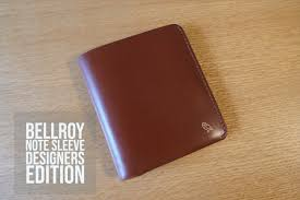 Bellroy Slim Sleeve Designers Edition Review Bellroy Note Sleeve Designers Edition Review