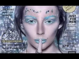 ice queen make up tutorial inspired by cover of faceon magazine