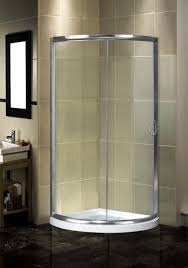 aston round sliding shower door enclosure with low profile base