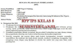 Terbentuknya negara kesatuan republik indonesia 1.3. Rpp Ips Kelas 8 Semester Ganjil Tahun Pelajaran 2019 2020 Didno76 Com