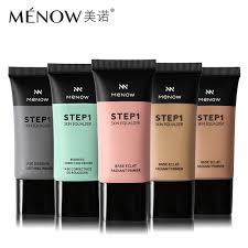 30ml menow face makeup primer step 1 skin equalizer hyaluronic acid smoothing redness correcting base eclat