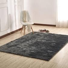 faux fur area rug regarding factory plus sheepskin gray warm fuzzies place plan