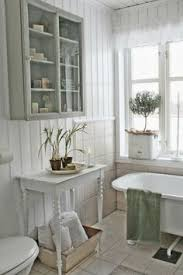 small country bathrooms. 05 White Shabby Bathroom Look With Rustic Touches - Shelterness Small Country Bathrooms I