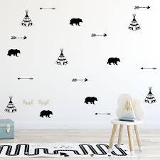 set of tribal wall decals nursery