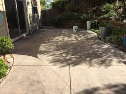 weathered outdoor concrete patio ready for restoration