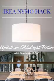 Diy Light Fixtures Ikea Nymo Hack Diy Light Lights And Blogging
