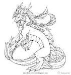 Картинки дракона в раскраске
