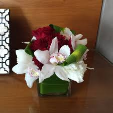 florist in westlake village flower delivery 6 red roses and white orchid cube 6