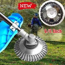 <b>6</b>/<b>8 Inch</b> Steel Wire Wheel <b>Grass</b> Cutter Trimmer Parts General Wear ...