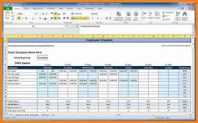 Free Employee Scheduling Excel Spreadsheet Training Schedule
