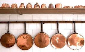 hanging pots on wall decorating with copper pots and pans hanging pots wall
