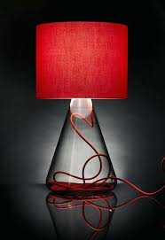 vintage red lamp shade moonshine shades a glass with regard to table lamps for living room decor 10