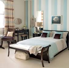 Charming Blue And Brown Bedroom Ideas With Wallpaper