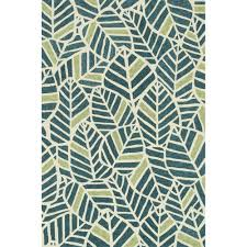 tropez foliage blue green outdoor rug 7ft 10in x 7ft 10in round