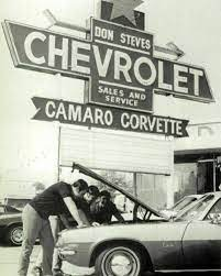Pin By Hoselton Auto Mall On Vintage Car Dealerships Chevrolet Dealership Chevy Dealerships Chevrolet