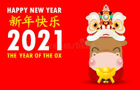 The chinese new year, one of the greetings. Happy Chinese New Year 2021 Greeting Card Little Ox Holding Chinese Gold Paper Art Style Year Of The Ox Zodiac Cartoon Isolated Stock Vector Illustration Of Card Festival 167523156