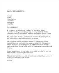 Grant Request Rejection Sample Letter Requesting Funding Support ...