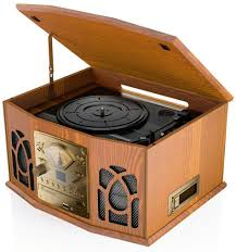classical retro dark wood style system turntable co uk electronics