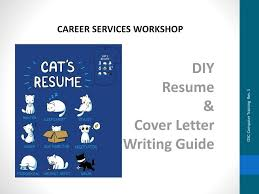 Diy Resume Cover Letter Writing Guide Ppt Download