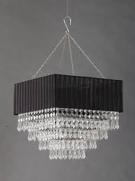 black fabric square clear beaded chandelier black beaded chandelier a28
