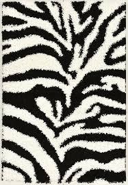 get ations black and white animal print zebra design high pile soft area rug 5
