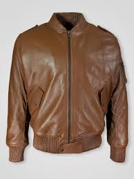 tan color real italian leather er jacket for women 1