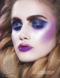makeup artist magazine cover and inside story featuring lizbell s fresh new faces sara z taylor