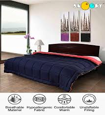 double bed comforter.  Comforter Snoopy Home Ultra Soft Microfibre Reversible Double Bed Comforter  King  Size Navy Blue And Inside B