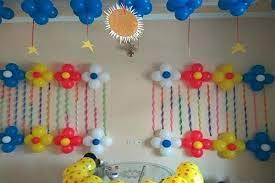 Daily homes depot is the best place when you want about galleries for your need, imagine some of these amazing photos. Balloon Decoration On Wall For Birthday At Home Architecture Home Decor
