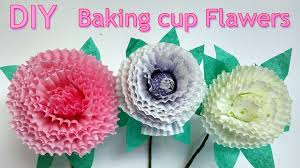 diy crafts how to make baking cup flowers ana diy crafts youtube