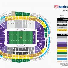 T Mobile Arena Seating Chart With Seat Numbers Organized Vikings Stadium Seating View Us Bank Arena Seating