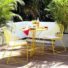 modern outdoor dining sets. Wonderful Outdoor Mid Century Outdoor Furniture West Elm Bend Bistro Modern  Chevron Yellow Chair Luxurious Metal Chairs  Intended Dining Sets E