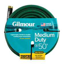 50 foot water hose medium duty durable crush resistant lawn yard garden outdoor